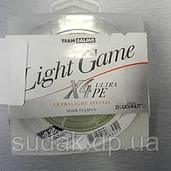 Шнур TEAM SALMO LIGHT GAME X4 ULTRA PE 150 m 0.042 mm 1.74 kg