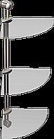 Полка стеклянная угловая тройная Andex Classic, 035cc