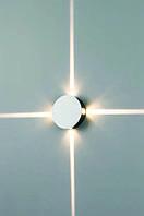 Декоративный светодиодный светильник 4 Вт круг