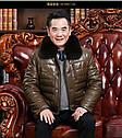Мужская эко-кожа куртка-пуховик классика с мехом 3 цвета, фото 4