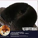 Мужская эко-кожа куртка-пуховик классика с мехом 3 цвета, фото 10