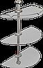 Полка стеклянная полукруглая тройная Andex Classic, 036cc