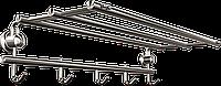 Полка с держателем для полотенец на 5 крючков Andex Classic, 037cc