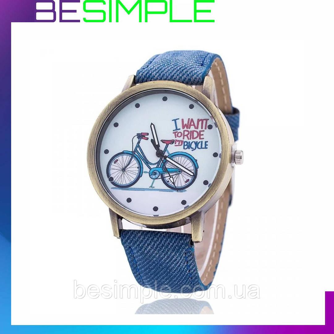 Жіночий наручний годинник / Годинник на руку з велосипедом