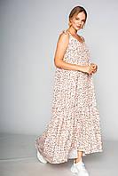 Літнє жіноче плаття сарафан з квітковим принтом