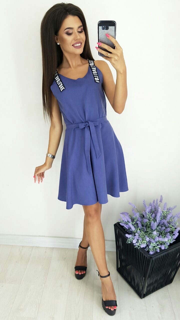 Платье без рукава, практичный вариант для школьного сезона, разные цвета, р.42,44,46 Код 240Э