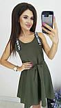 Платье без рукава, практичный вариант для школьного сезона, разные цвета, р.42,44,46 Код 240Э, фото 8