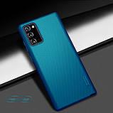 Nillkin Samsung Galaxy Note 20 Super Frosted Blue Shield Чохол Накладка Бампер, фото 4