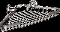Мыльница металлическая (латунь) угловая широкая Andex Classic, 040cc