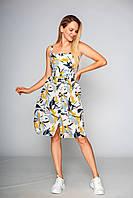 Жіноче бавовняне плаття з квітковим принтом