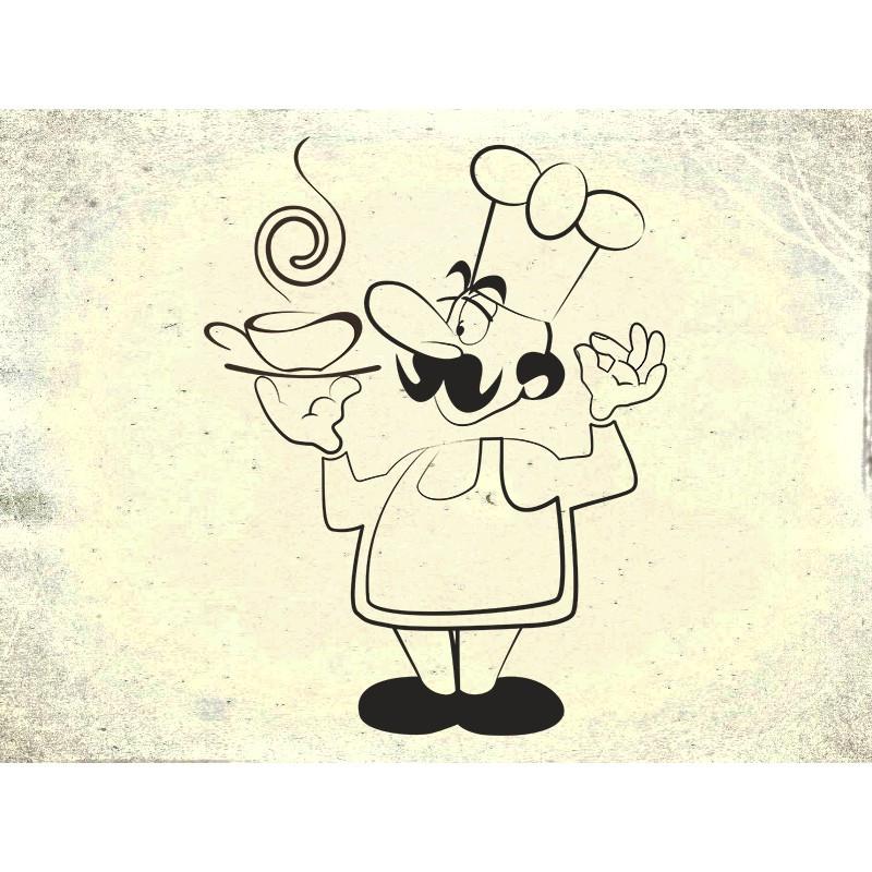Наклейка на кухню Вінілова плівка Німеччина Повар