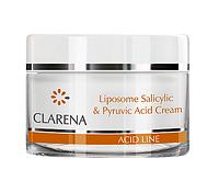 Крем  для жирной и смешанной кожи с 1 % салициловой кислотой в липосо Clarena Liposome Salicylic & Pyruvic Acid Cream