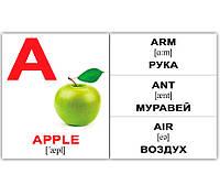 "МИНИ карточки (укр/англ.) ""Alphabet"" (275318)"