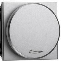 Светорегулятор для LED-ламп 2-100 Вт, серебристый металлик Zenit ABB NIESSEN N2260.3 PL, 2 модуля