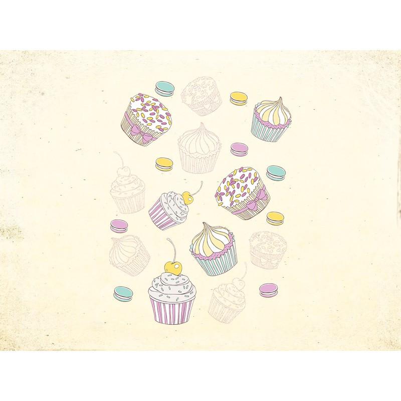 Наклейка на кухню Вінілова плівка Німеччина Ванильные сладости