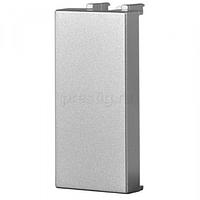 Заглушка, сріблястий металік ZENIT ABB NIESSEN N2100 PL, 1 модуль