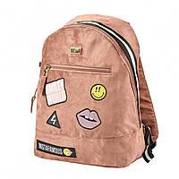 Модный женский рюкзак коричневый из экокожи, большой и вместительный