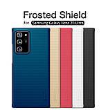 Nillkin Samsung Galaxy Note 20 Ultra Super Frosted Shield Black Чохол Накладка Бампер, фото 5