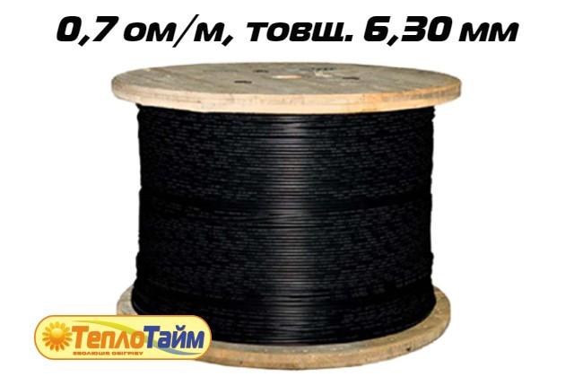 Одножильний нагрівальний кабель TXLP BLACK DRUM 0,7 OM/M