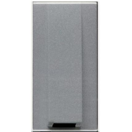 Висновок кабелю з затиском, сріблястий металік ZENIT ABB NIESSEN N2107 PL, 1 модуль