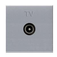 Розетка TV, сріблястий металік, Zenit ABB NIESSEN N2250.7 PL, 2 модуля