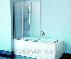 Штора для ванной Ravak VS3 115 114,6 пластик Рейн