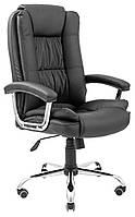 Офисное кресло Richman Калифорния хром кожзам черный для руководителя