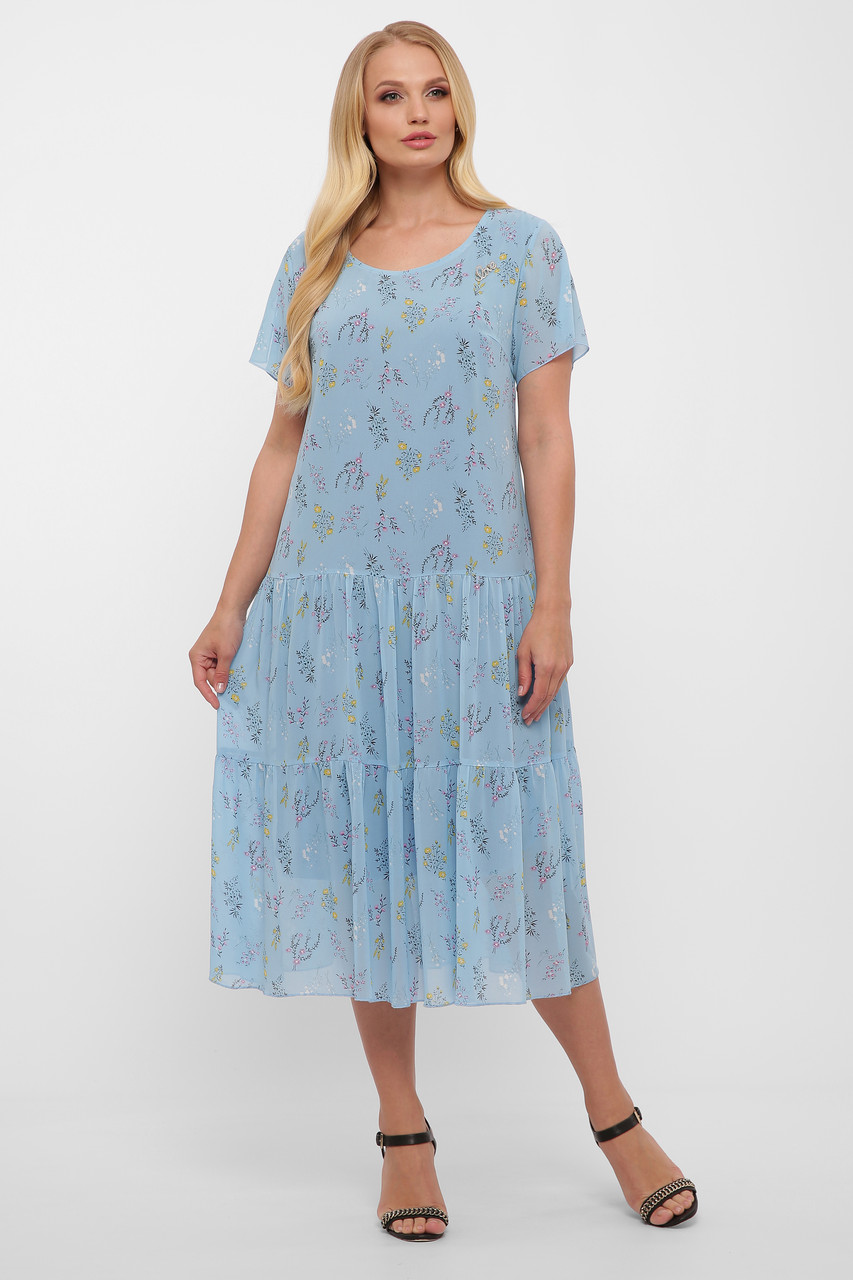 Платье летнее Катаисс небо