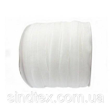 13 Бархатная лента декоративная (1см.) моток 46м., белая (657-Л-0119), фото 2