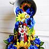 Квіткова композиція - ширяюча чашка Квітуча Україна Подарунок в українському стилі на 8 березня