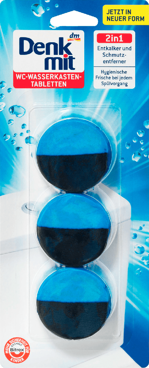 Таблетки для бачка унитаза Denkmit WC-Wasserkasten 2in1, 3 шт.