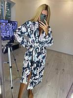 Длинный махровый халат большого размера, фото 1