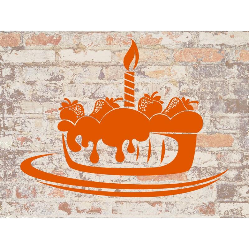 Наклейка на кухню Вінілова плівка Німеччина  Пирог с клубникой