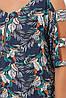 Летнее платье в пол Тропикана синее, фото 5