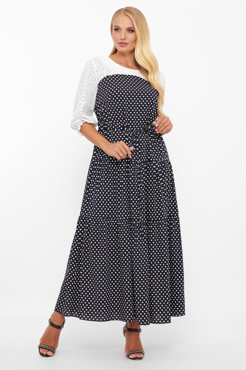 Платье в пол Росава горох