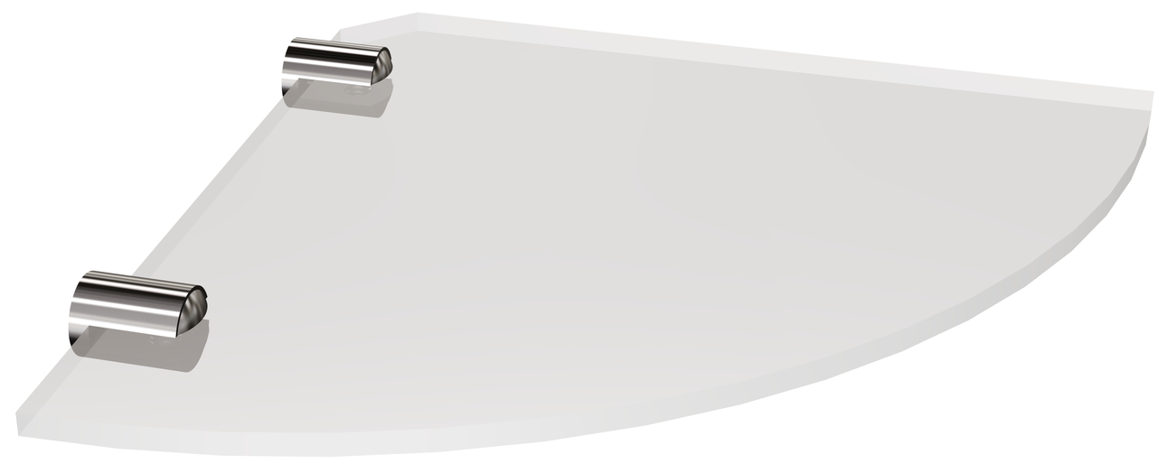 Полка стеклянная угловая (6мм) Andex Classic, 052/6cc