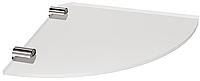 Полка стеклянная угловая (6мм) Andex Classic, 052/6cc, фото 1
