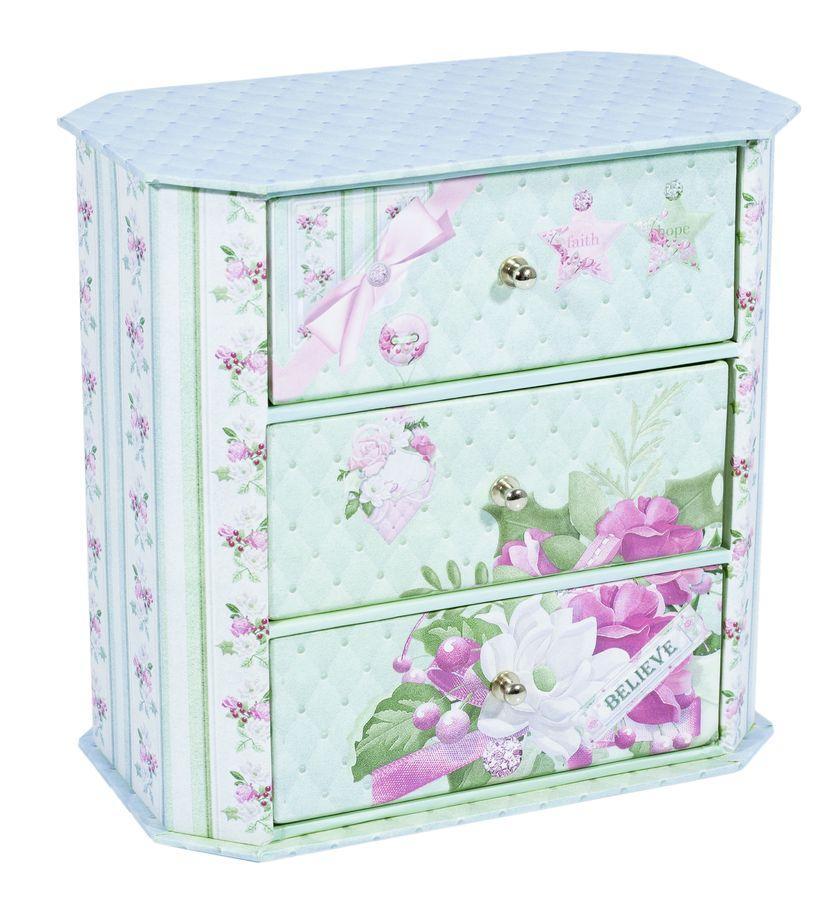 Декоративный комод для украшений голубой 44631-3