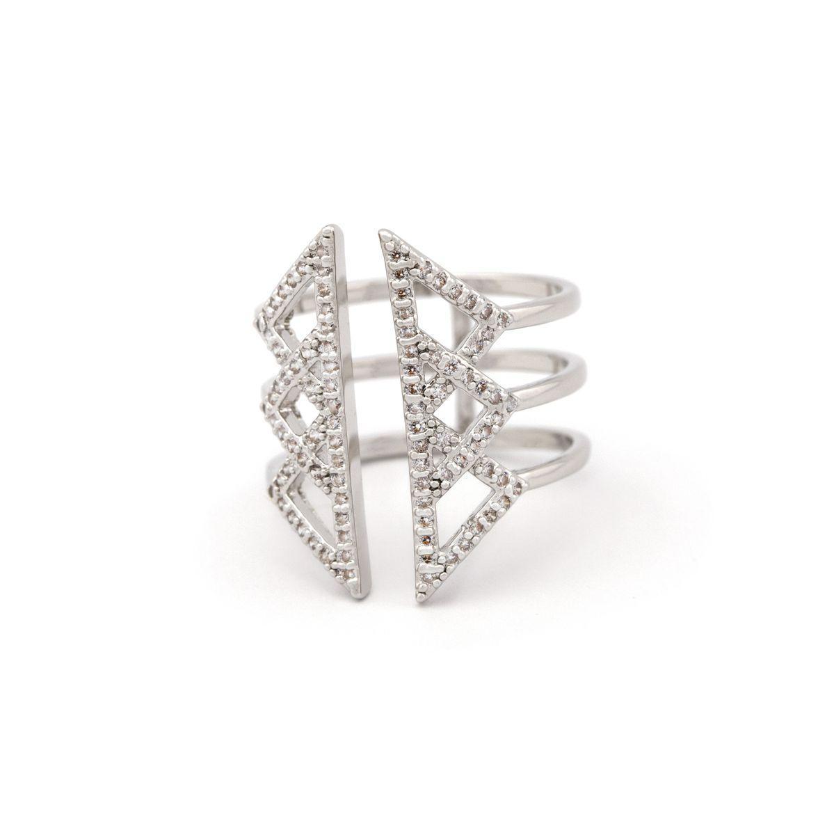 Кольцо в геометрическом стиле 54