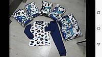Піжама для хлопчика на 9-12 років блакитного, синього кольору оптом