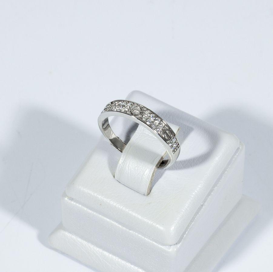Кольцо серебряное в стиле Cartier 925-5609-17/1