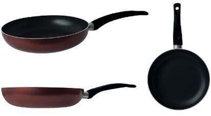 Сковорода Gusto, покриття Xylan, 24x4,8см (бордо) GT-2100-24/1