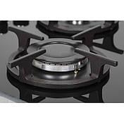 Газова поверхня Ventolux HG430-G3G CS (BK) чорне скло газ контроль, фото 3