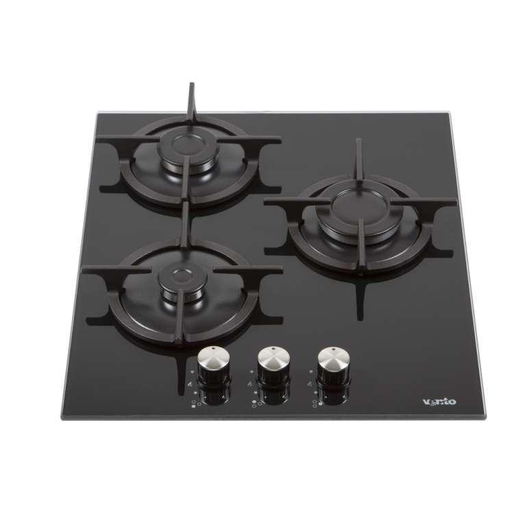 Газова поверхня Ventolux HG430-G3G CS (BK) чорне скло газ контроль