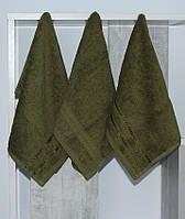 Набір рушників 30х50 (3 шт) зелений.