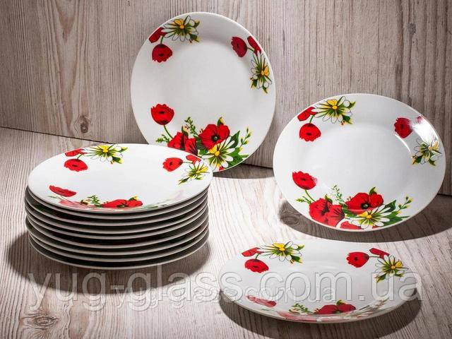 тарелка закусочная фарфоровая