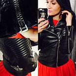 """Женская стильная куртка-косуха """"Зара"""" (2 цвета), фото 5"""