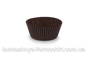 Формочка для капкейков, коричневая 55*35