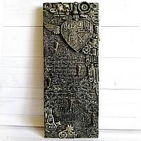 Настенная ключница Подароки  ручной работы в стиле лофт на 8 марта новоселье день рожден6ия юбилей