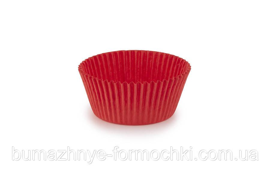 Красные формочки для выпечки кексов и маффинов, 55х35 мм